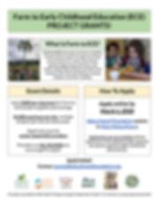 Farm to ECE Project Grants Flier (SY1920