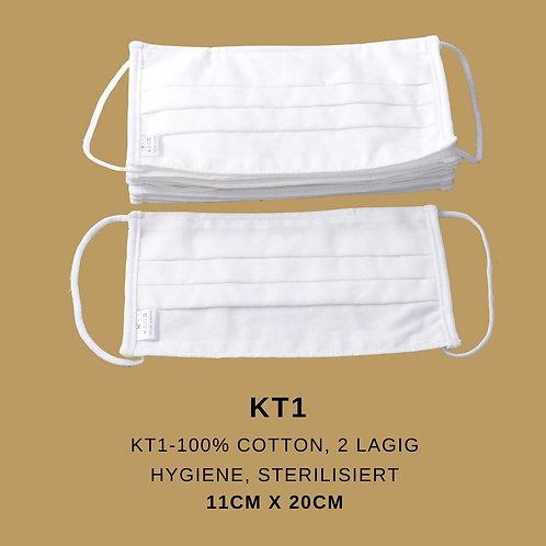 Mund-, Nasenmaske - 100% Baumwolle - Hygiene - Sterilisiert