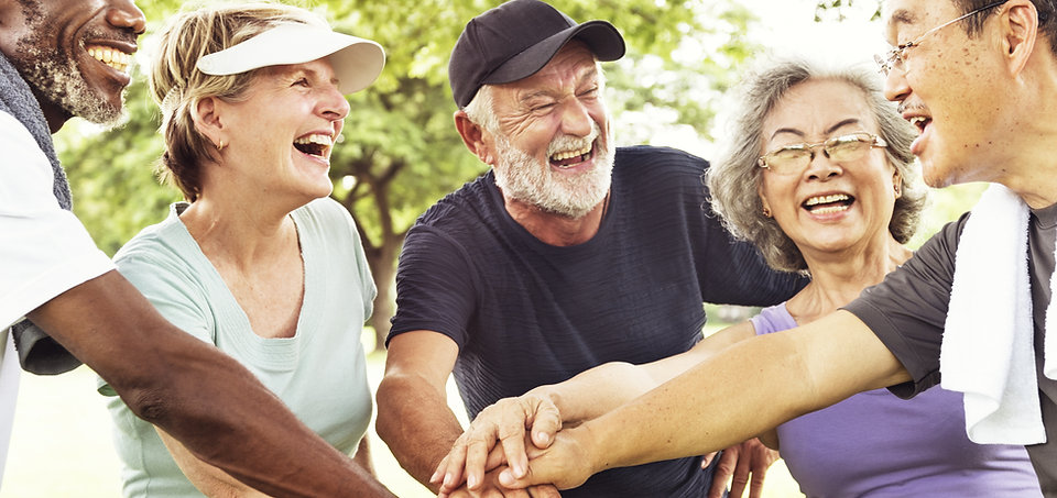 Group Of Senior Retirement Exercising To