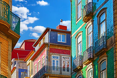 Porto, Portugal. Traditional houses with