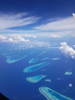 maledives sky airplane
