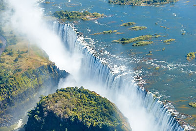 The Victoria falls is the largest curtai