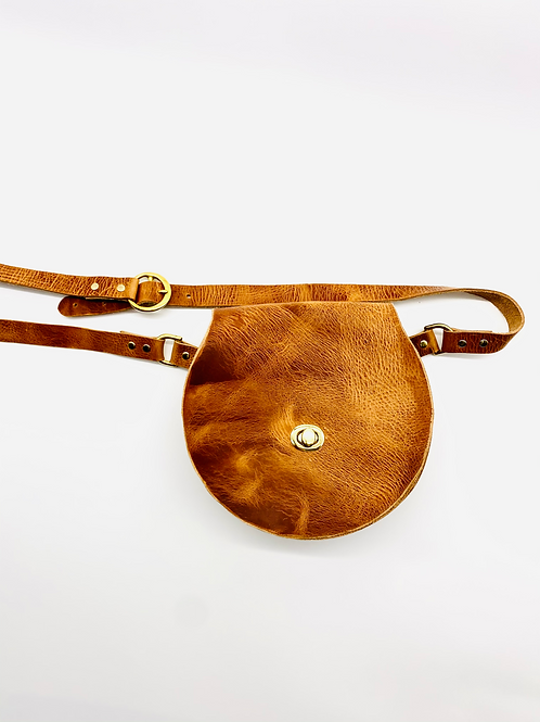 """""""DAY MAKER"""" Midsize Beltbag in Waxed Brown"""