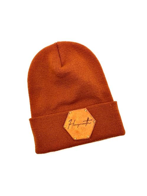 Honeymouth Knit Beanie in Burnt Orange