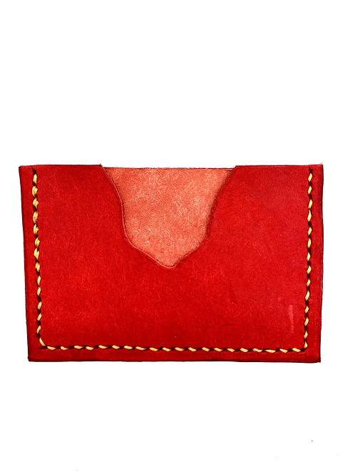 Two-Tone Cardholder in Red + Pink