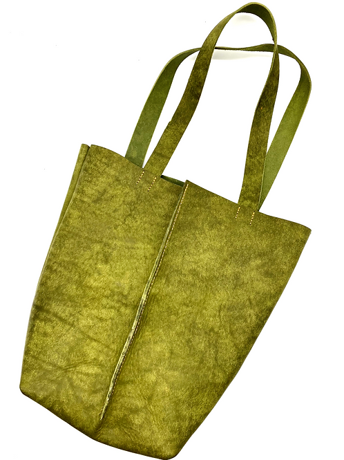 """WORK HARD, BE KIND"" Tote in Olive"