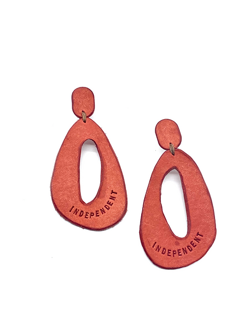 """""""INDEPENDENT"""" Earrings in Pink"""
