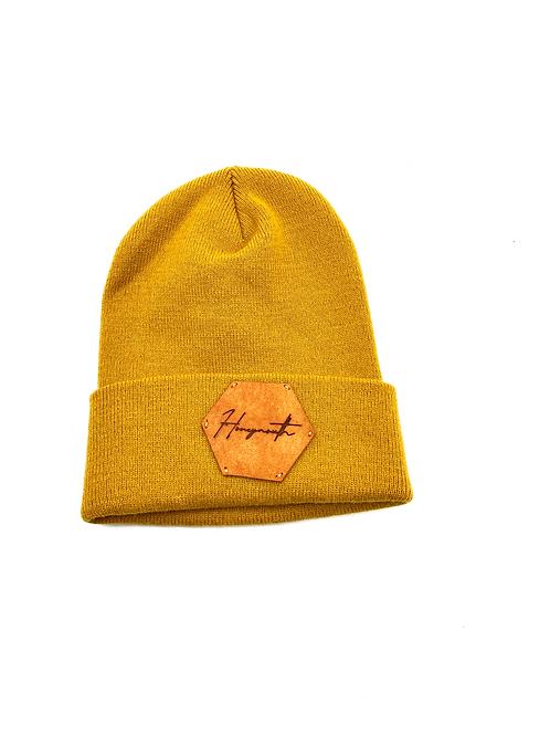 Honeymouth Knit Beanie in Mustard Yellow
