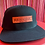 Thumbnail: HEN+HOC Hat in Black + Pink