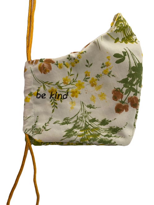 """""""BE KIND"""" Face Mask in Floral"""