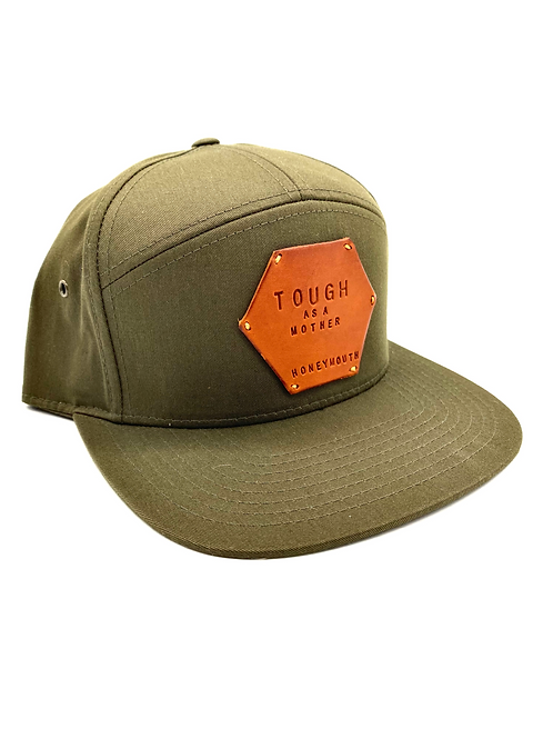 """""""TOUGH AS A MOTHER"""" Hat in Olive Green with Olmo patch"""