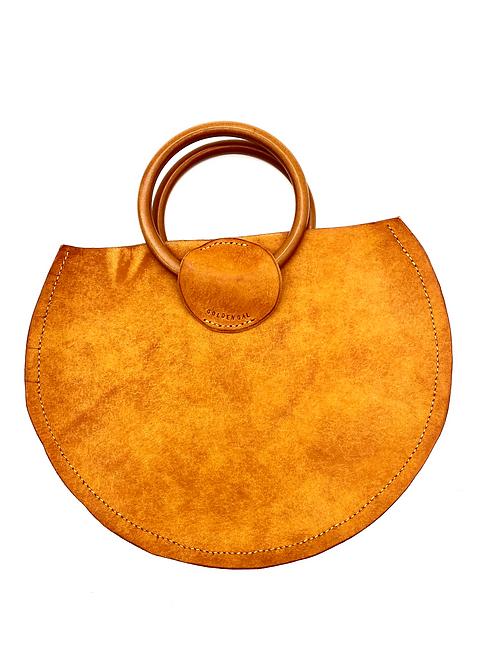 """GOLDEN GAL"" Half Moon Handbag in Olmo"