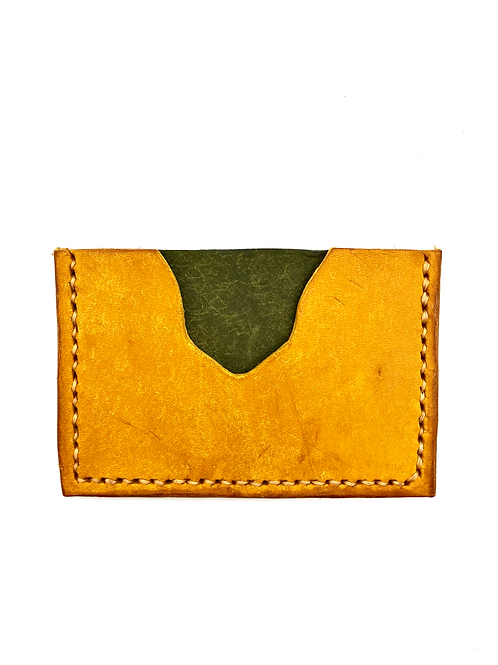 Two-Tone Cardholder in Yellow + Olive