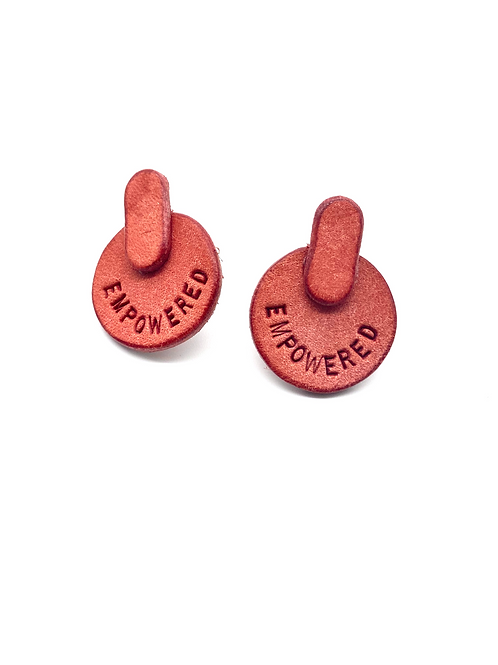 """EMPOWERED"" Earrings in Pink"