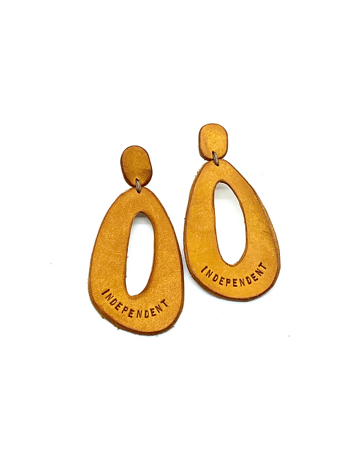 """""""INDEPENDENT"""" Earrings in Yellow"""