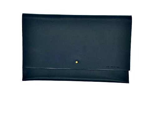 """GO GETTER"" Clutch, Large in Black"