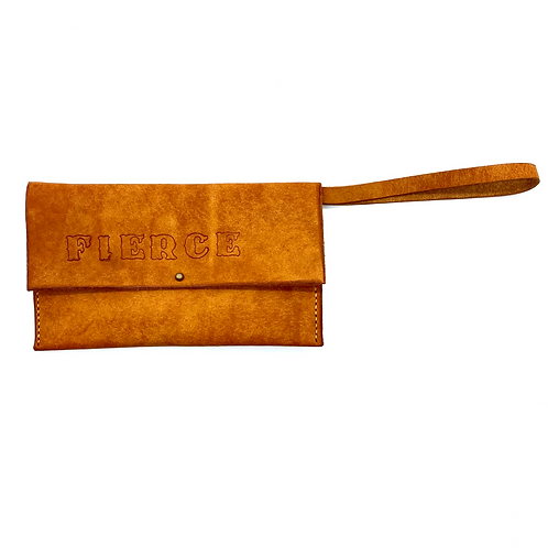 """FIERCE"" Wristlet in Olmo"