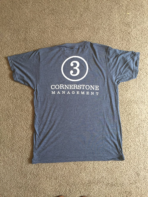 3 Cornerstone T Shirt - Heather Navy