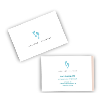 barefoot birthing business cards