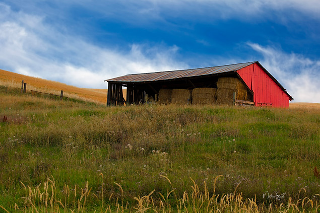 Palouse red hay shed hill.jpg