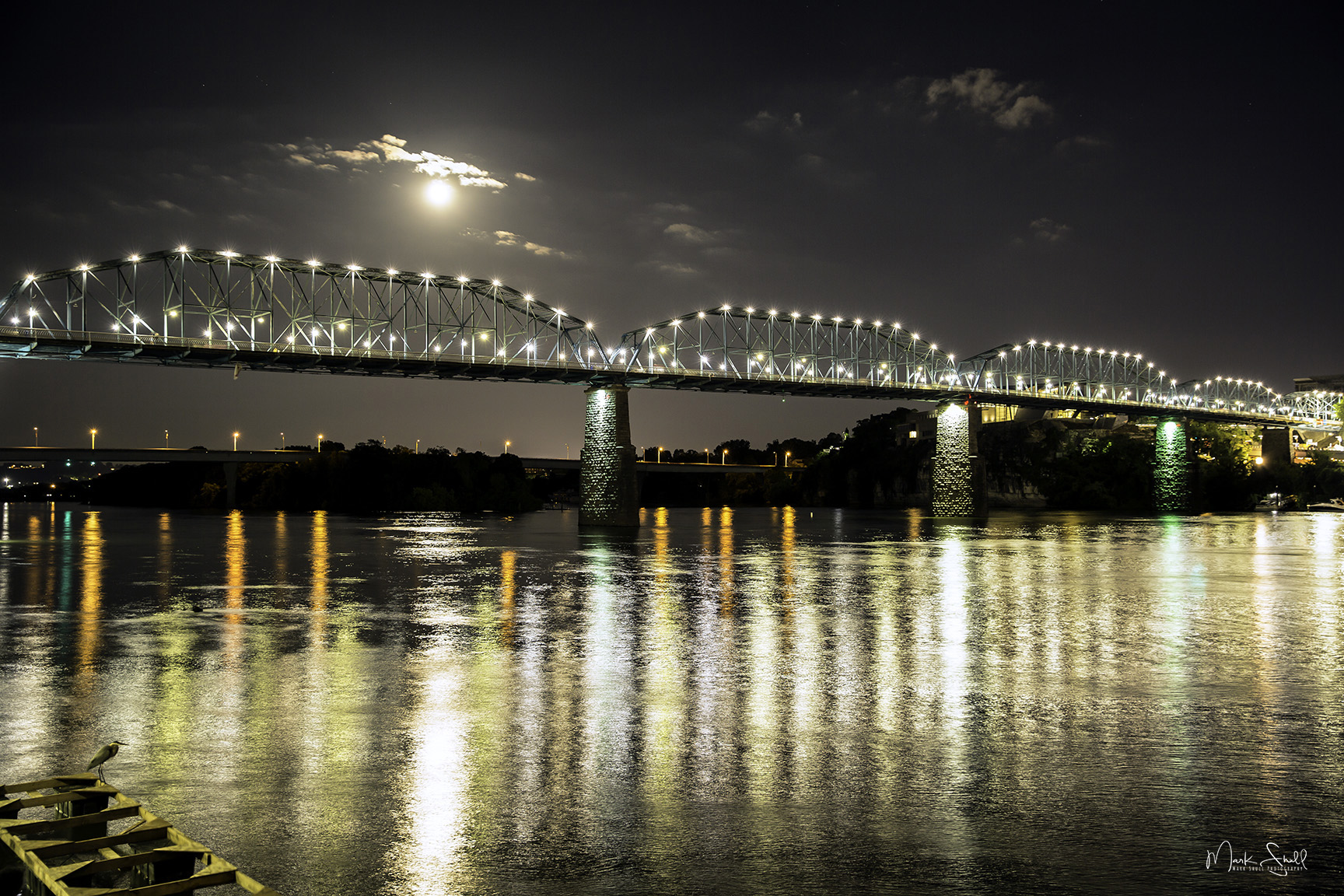 Full Moon Walnut Street Bridge