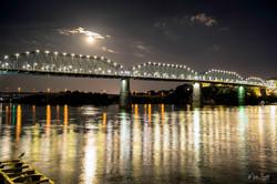 Full Moon Walnut Street Bridge
