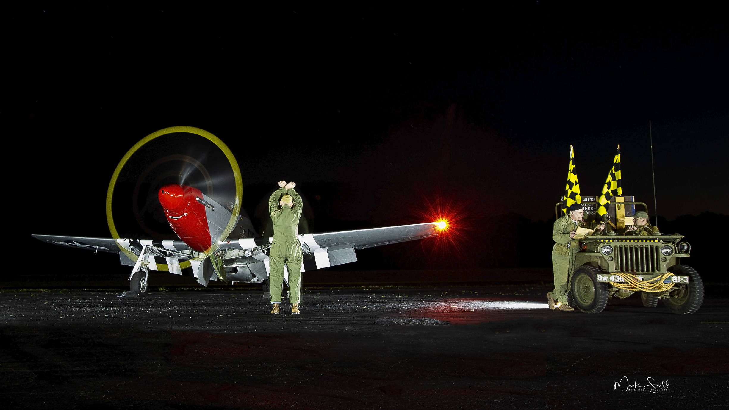 P-51 Mustang night crew post