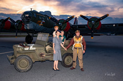 WWII pilot and family B17