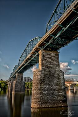 Walnut Street Bridge below