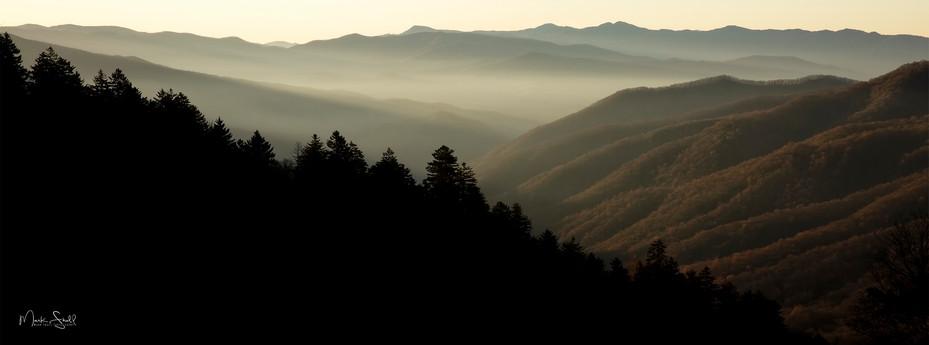 Smoky morning sunrise