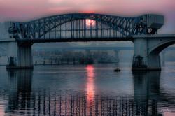 Market Street Bridge hazy sunset