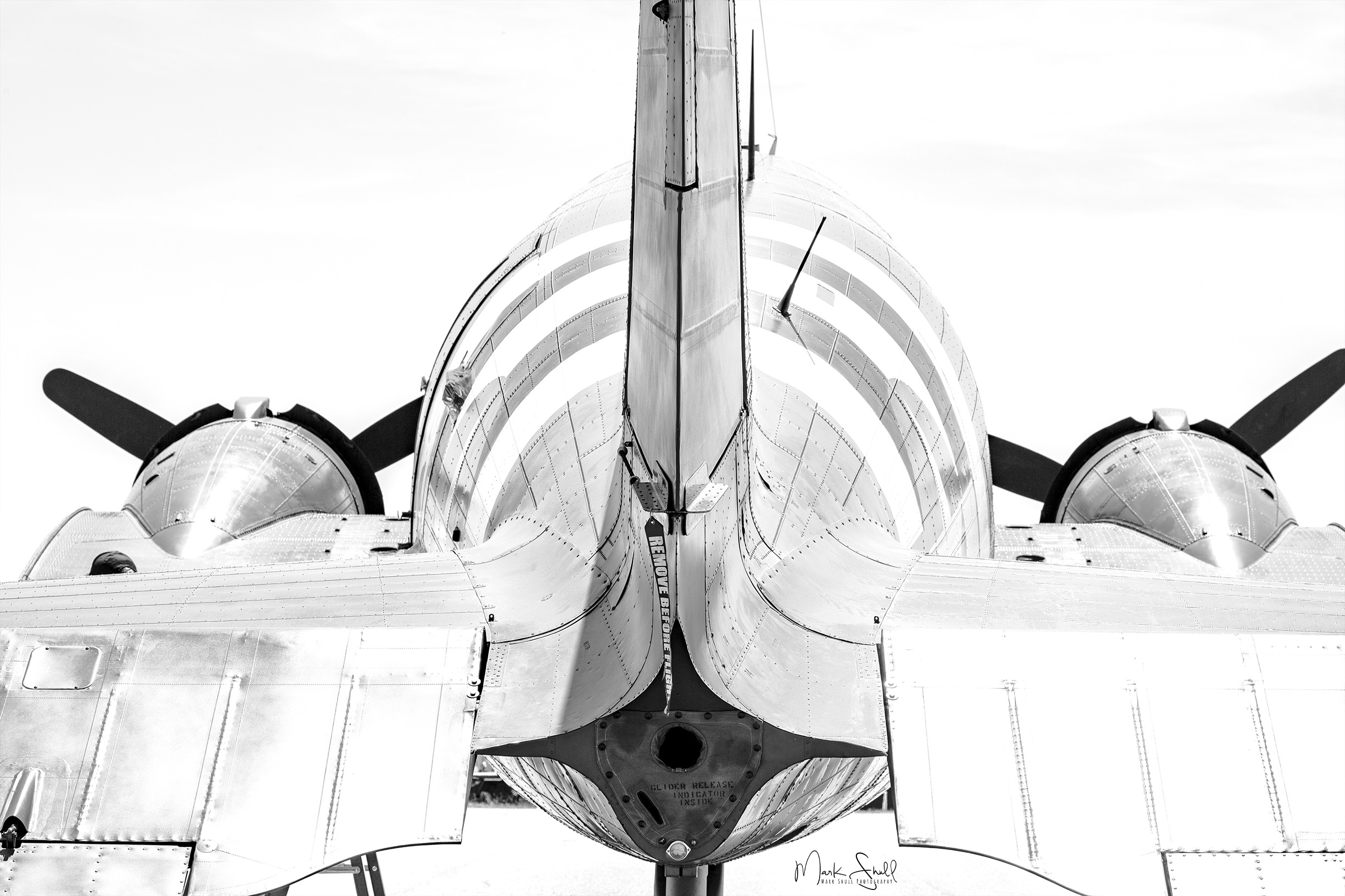 C-47 tail view bw IR post