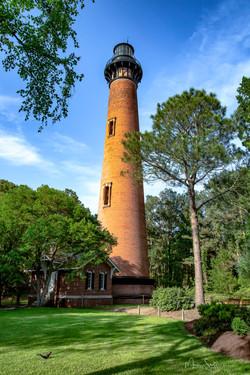 Currituck Beach Lighthouse tall post
