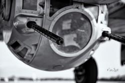 WWII Days B-17 belly gun bw