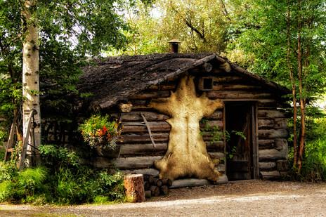 Yuit Indian village cabin