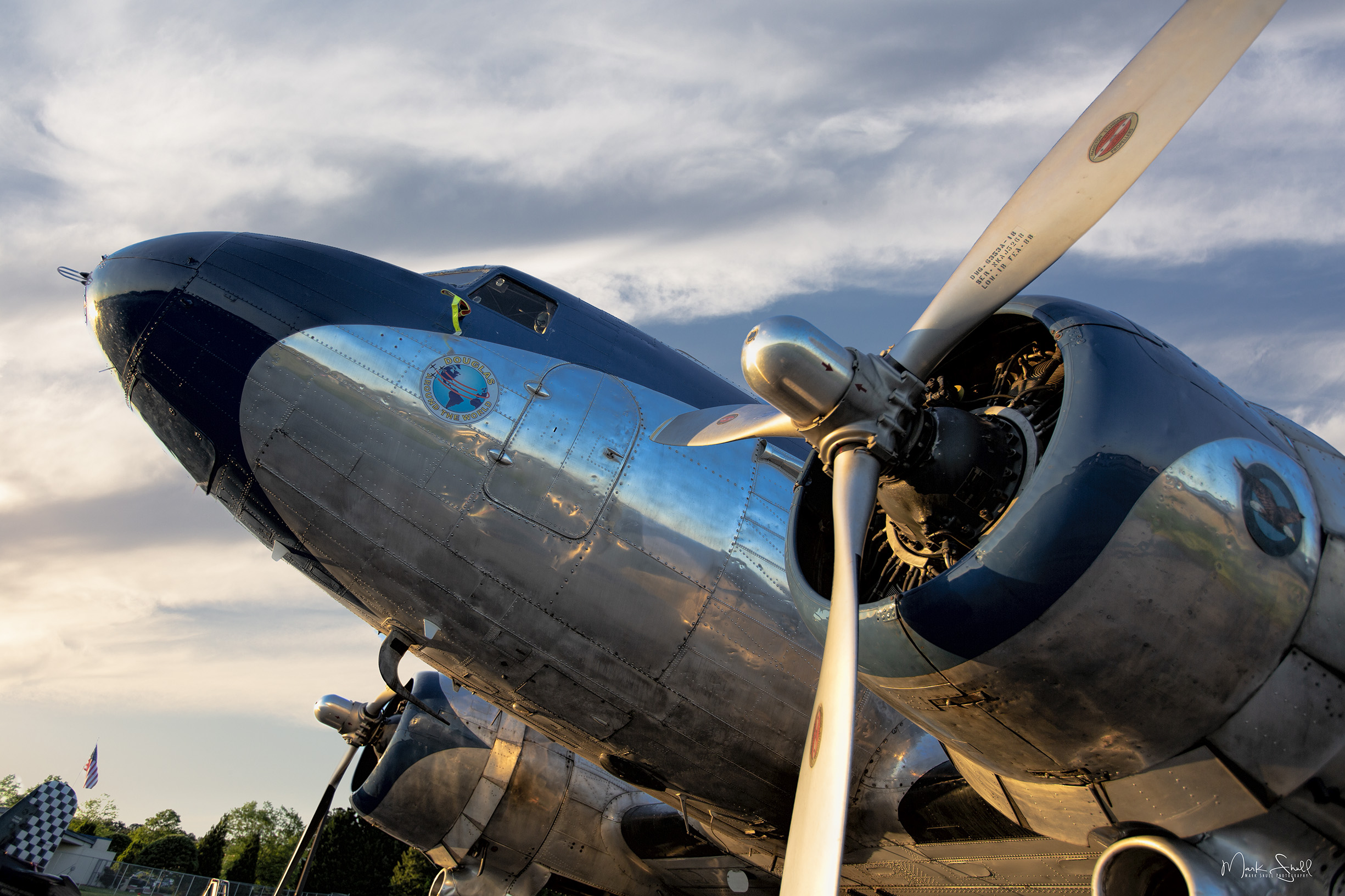 DC-3 sunset