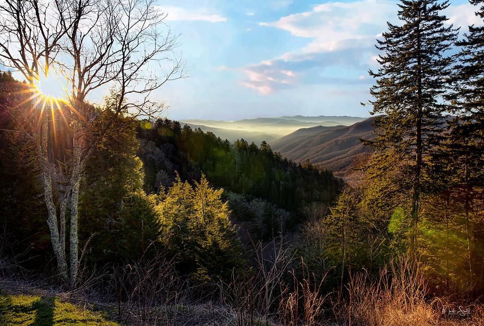 Smoky Mountain Sunrise Newfound Gap A1