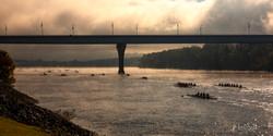 Veterans Bridge foggy Head of Hooch