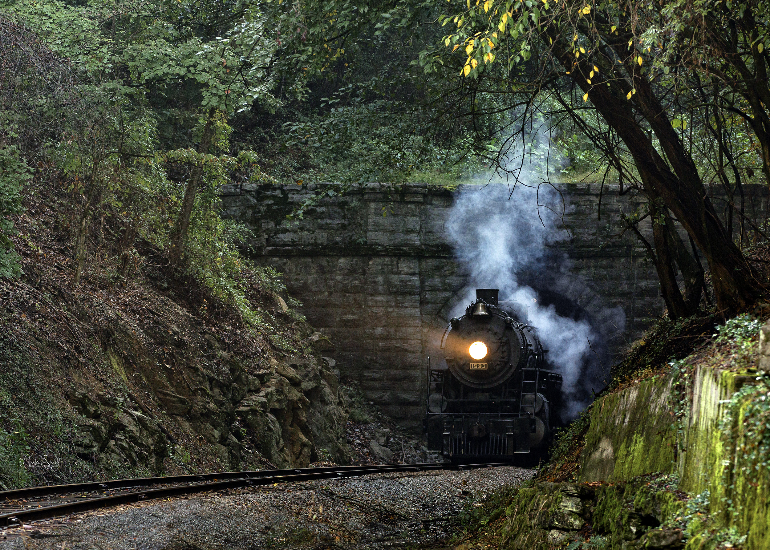 Steam Engine 1593 Ridge Tunnel v2