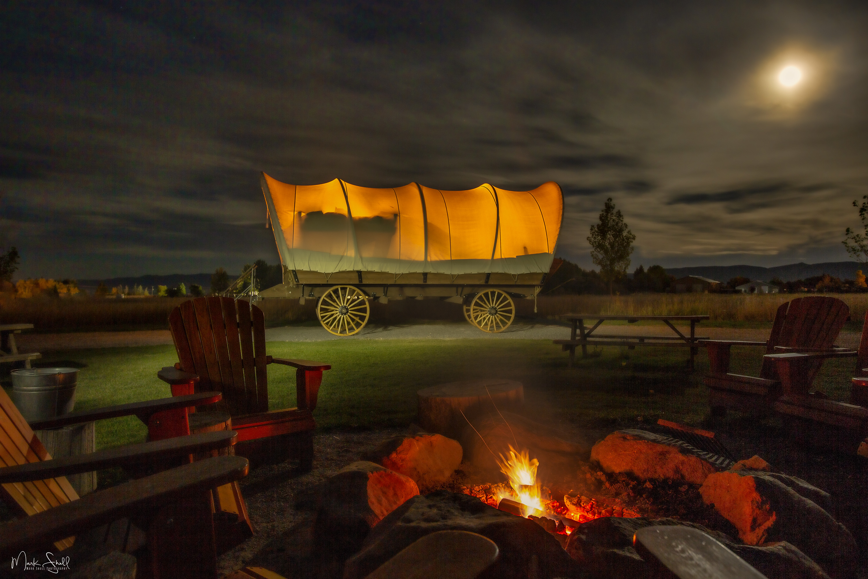 Conestoga Ranch wagon night