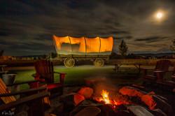 Conestoga Ranch wagon night