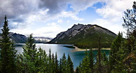 Two Jack Lake Cascade Mtn View