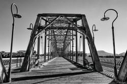 Walnut Street Bridge BW topside