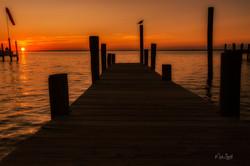 Destin sunset dock dark clr post