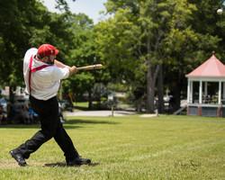 TN Vintage baseball hit
