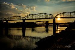 Walnut Street Bridge sunset