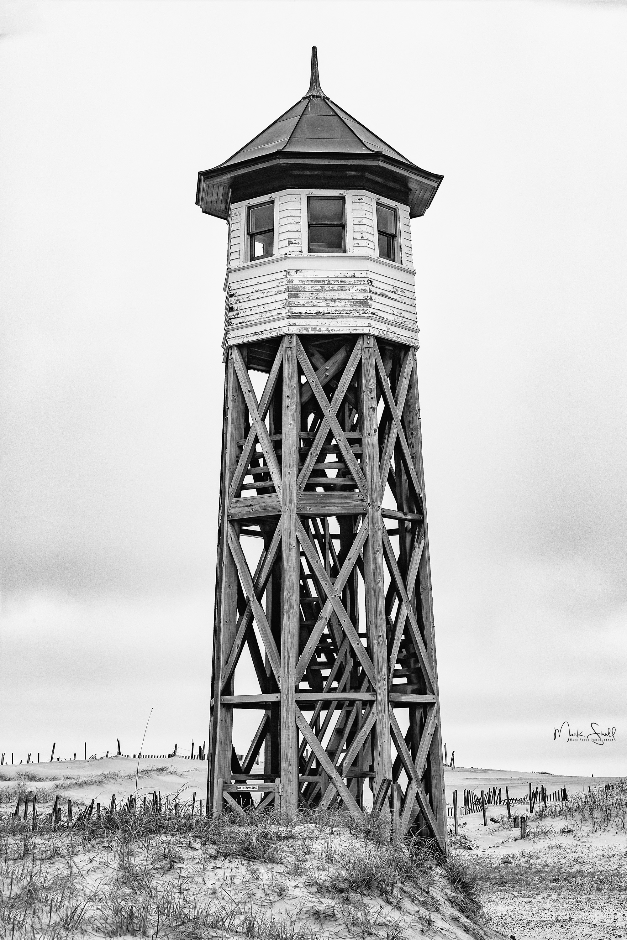 Wash Woods Station Tower Outerbanks bw post