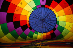 Inside hot air balloon