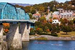 Hooch Walnut St Bridge fall color post