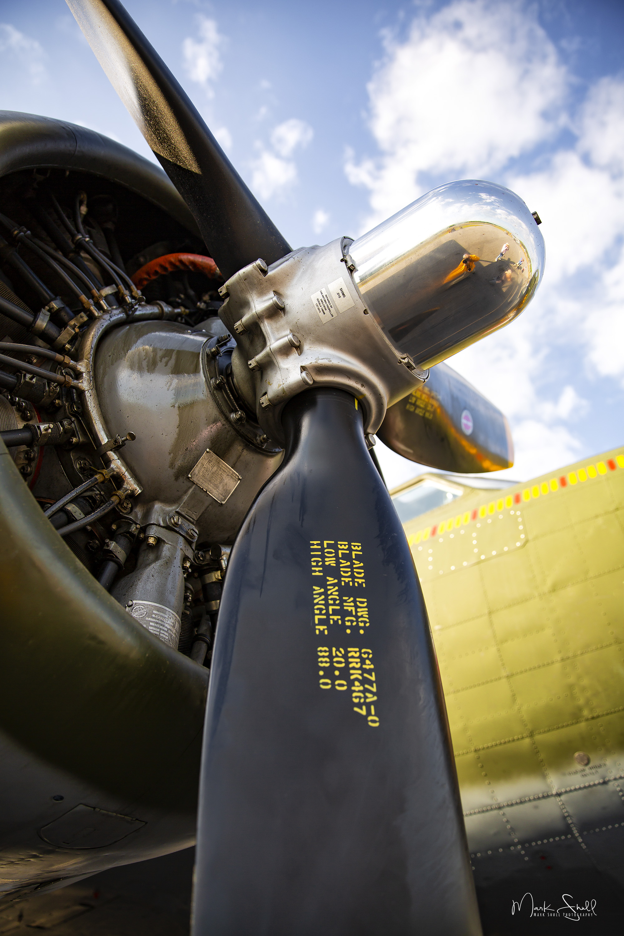 WWII B-17 prop engine